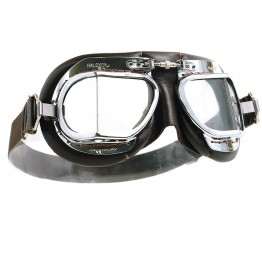 Mark 49 Goggles - Chrome/Brown Leather