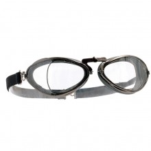 Aviator Retro Optical Goggles - Chrome