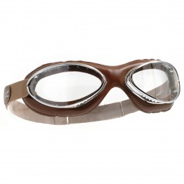 Leather Retro Goggles - Brown Leather