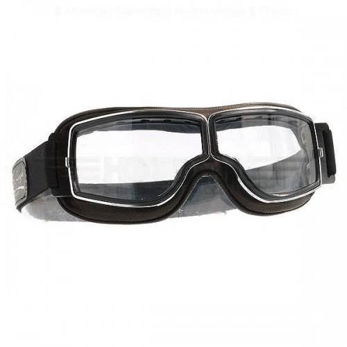 Aviator Pilot Goggles - Chrome image #1