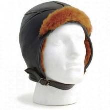 Beaufighter Leather Flying Helmet (Brown)