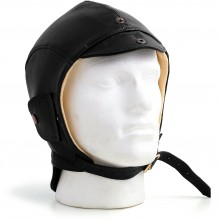Spitfire Leather Flying Helmet (Black)