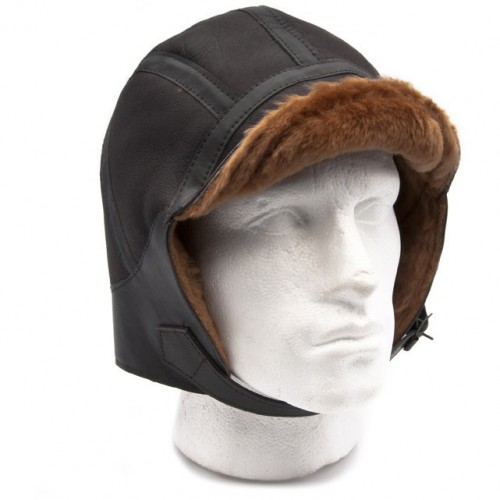 Moffat Sheepskin Flying Helmet (Brown) image #1