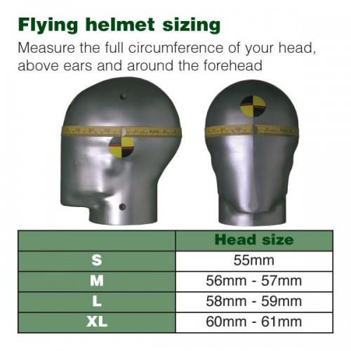 Hurricane Long Neck Leather Flying Helmet (Black) image #2