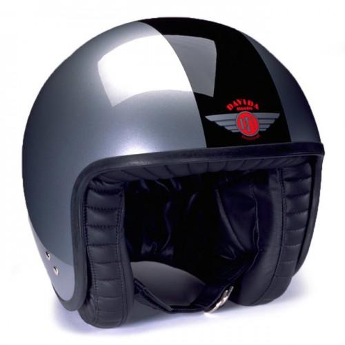 Davida Jet Helmet 2 Tone Silver/Black XS image #1