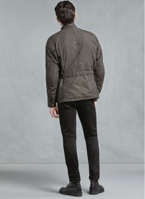 Belstaff Mcgee Wax Cotton Jacket - Black/Brown image #1