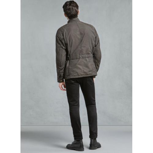 Belstaff Mcgee Wax Cotton Jacket - Black/Brown image #1