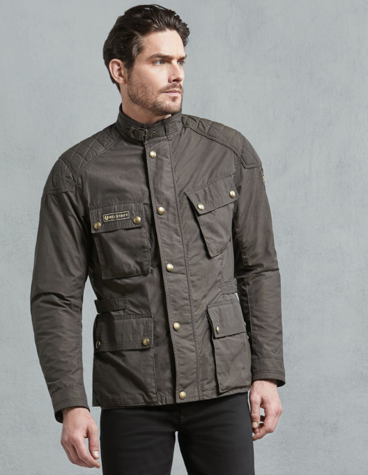 Belstaff Mcgee Wax Cotton Jacket - Black/Brown image #2