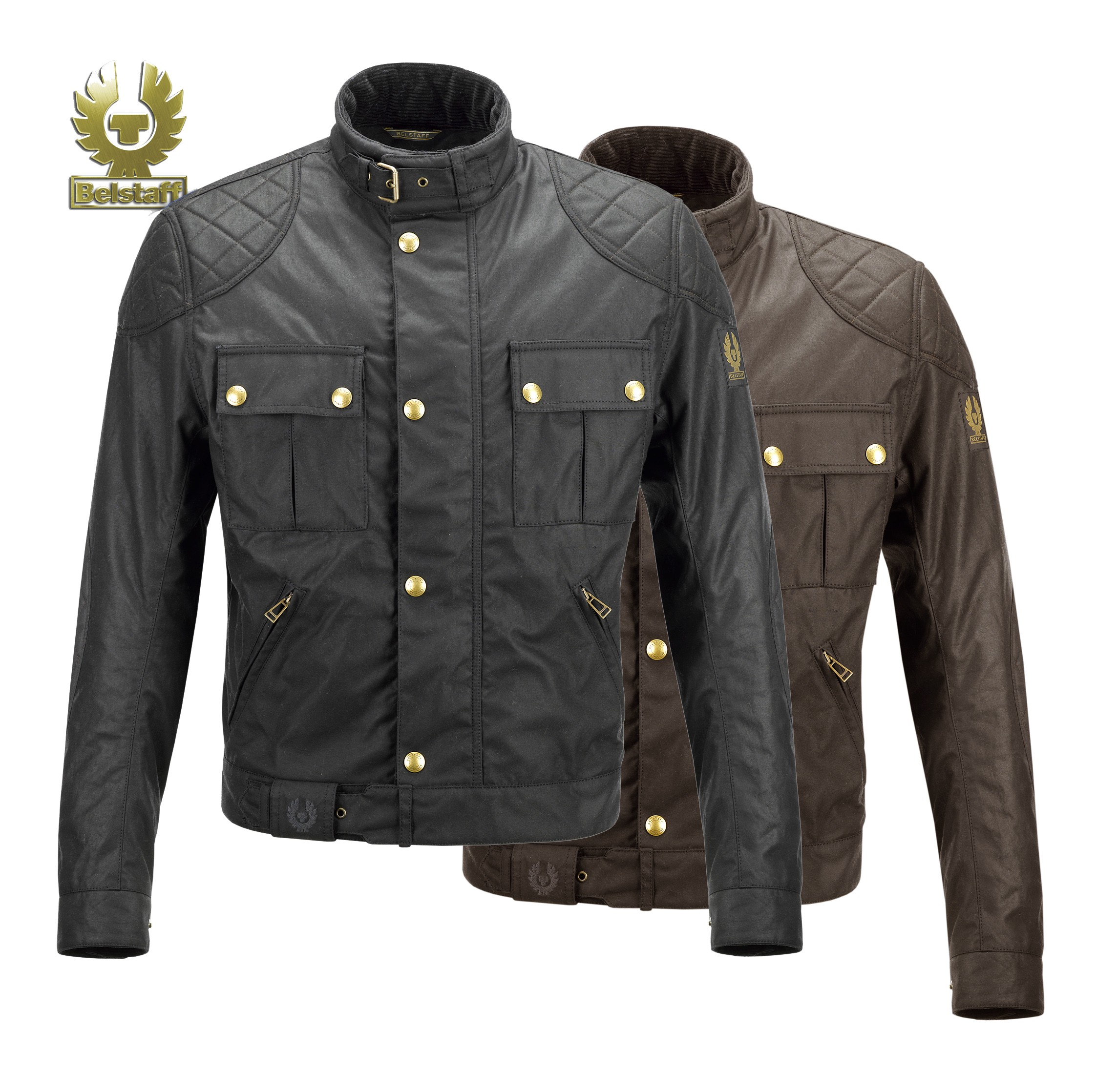 Belstaff Brooklands 'Mojave' Waxed Jacket - Black - Men image #1