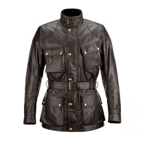 Belstaff Classic Tourist Trophy Waxed Jacket-Brown-Mens
