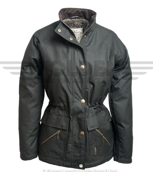 Sallygap Ladies' Waxed Jacket by Jack Murphy - True Black image #1
