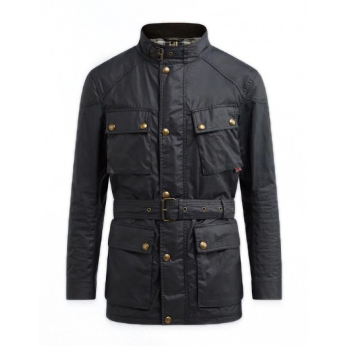 Belstaff Trialmaster Pro Waxed Jacket - Black