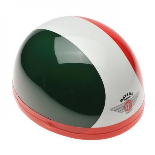 Davida Classic Helmet Green/White/Red S 54-58 image #1