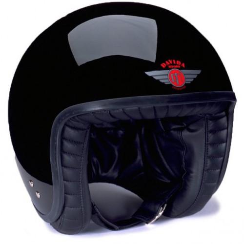 Davida Jet Helmet Gloss Black image #1