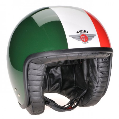 Davida Jet Helmet Green/White/Red XL 60-62 image #1