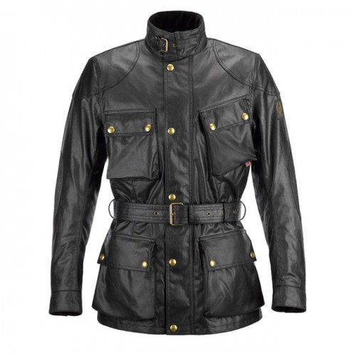 Belstaff Classic Tourist Trophy Waxed Jacket-Black-Mens image #1