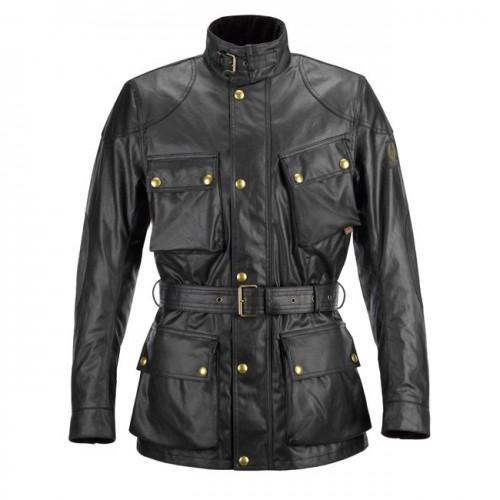Belstaff Classic Tourist Trophy Waxed Jacket-Black-Mens image #1
