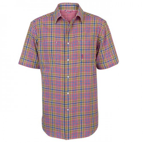 Rian Reversible Men's Shirt by Jack Murphy - Check & Red image #1