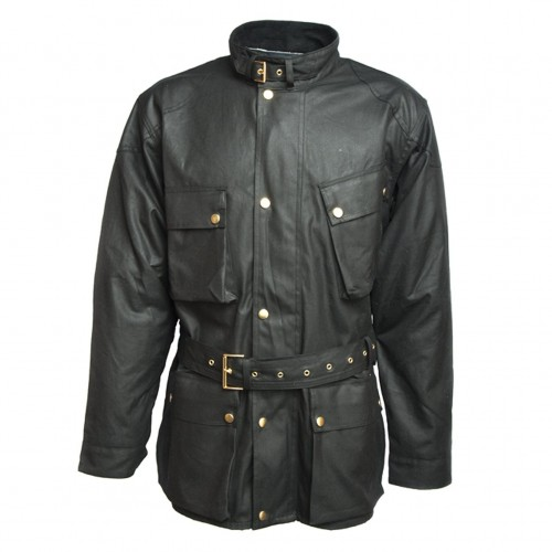 Wax Cotton Motorcycle Jacket image #1