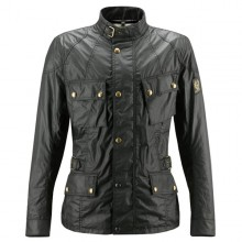 Belstaff Crosby Waxed Jacket - Mens - Black