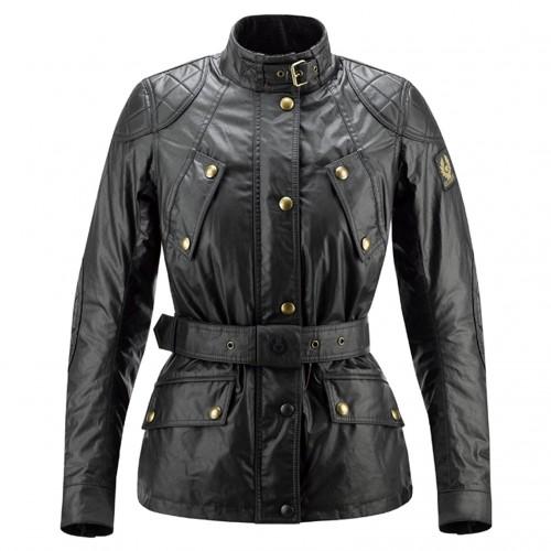 Belstaff Hairpin Waxed Jacket - Ladies - Black image #1