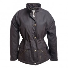 Sallygap Ladies' Waxed Jacket by Jack Murphy - Rich Brown