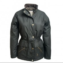 Sallygap Ladies' Waxed Jacket by Jack Murphy - True Black