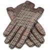 Dents Ladies Leather/Tweed Gloves - Chestnut image #3