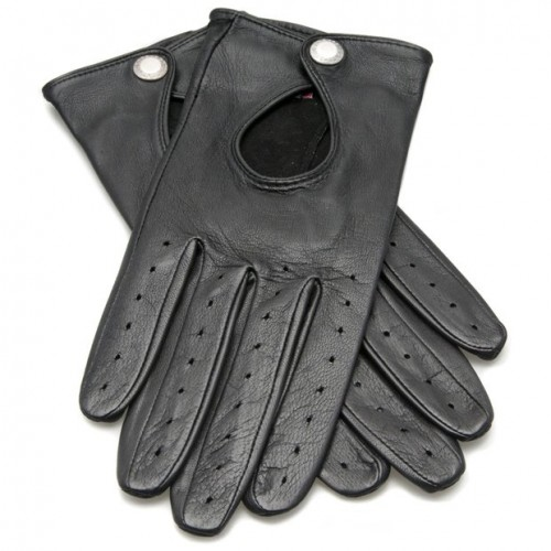 Dents Ladies Driving Gloves with Keyhole Back - Black image #1