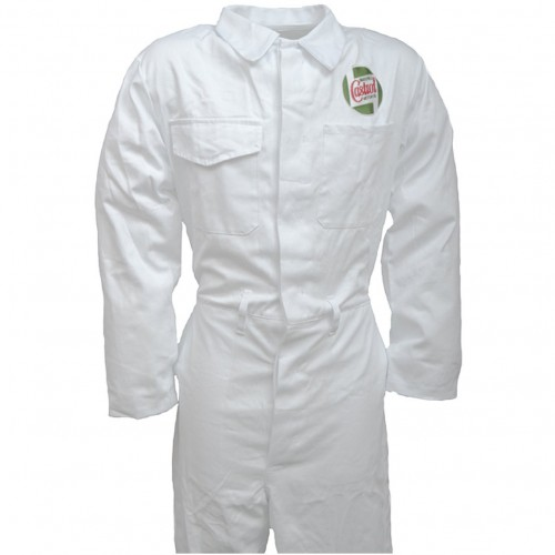 Team Castrol Classic White Mechanics Overalls - Heavy Duty image #1