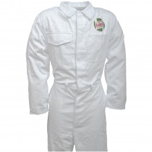 Team Castrol Classic White Mechanics Overalls - Heavy Duty