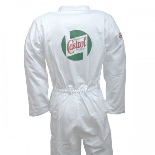 Team Castrol Classic White Mechanics Overalls - Heavy Duty image #2