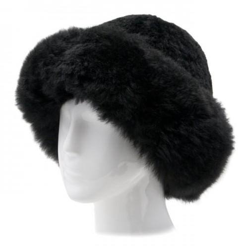 Alpaca Fur Hat - Black image #1
