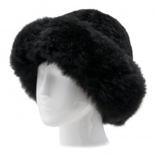 Alpaca Fur Hat - Black