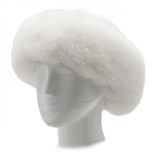 Alpaca Fur Hat - White image #1