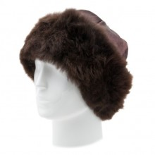 Alpaca Fur Hat - Dark Brown