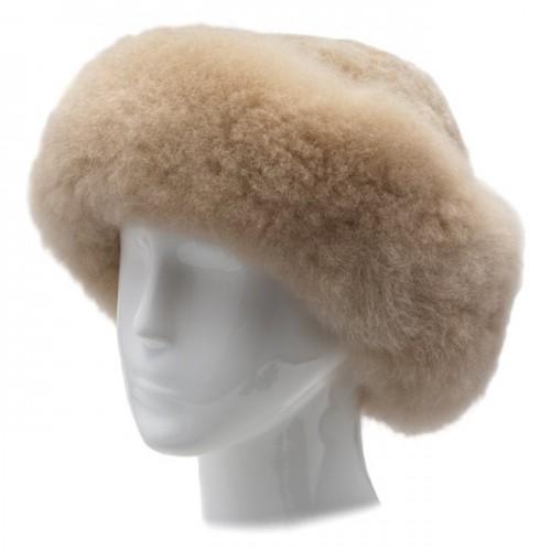 Alpaca Fur Hat - Champagne image #1