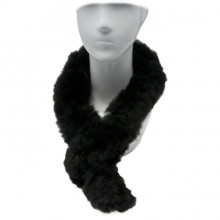 Alpaca Fur Scarf - Black