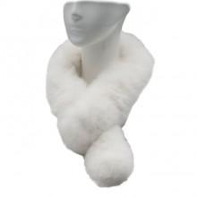 Alpaca Fur Scarf - White