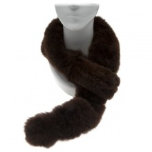 Alpaca Fur Scarf - Dark Brown