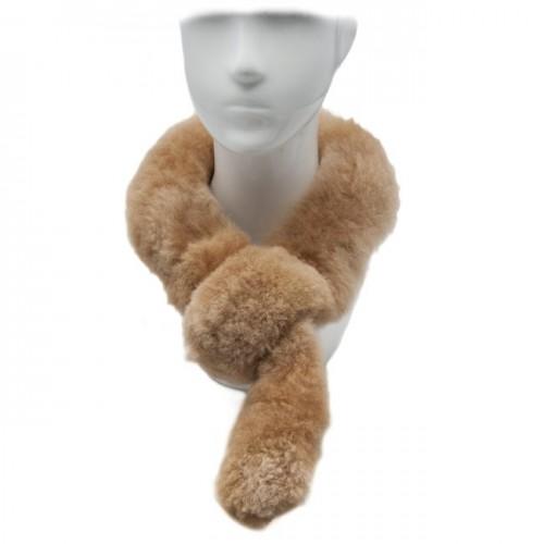 Alpaca Fur Scarf - Champagne image #1