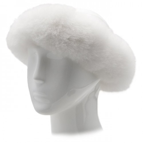 Alpaca Fur Halo - White image #1