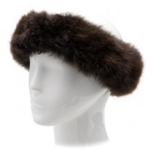 Alpaca Fur Halo - Dark Brown