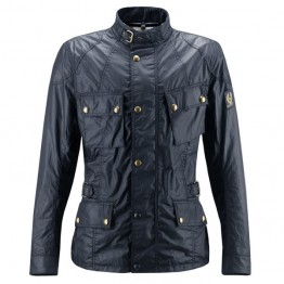 Belstaff Crosby Waxed Jacket - Mens - Navy