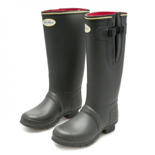 Neoprene Sligo Wellingtons by Jack Murphy - Olive image #1