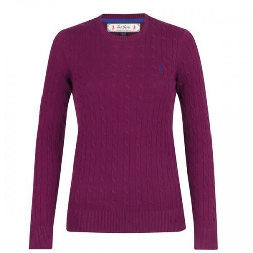 Ashling Crew Neck Sweater by Jack Murphy - Purple image #1