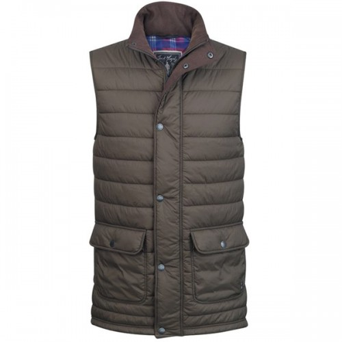 Alistair Men's Quilted Gilet By Jack Murphy - Olive image #1