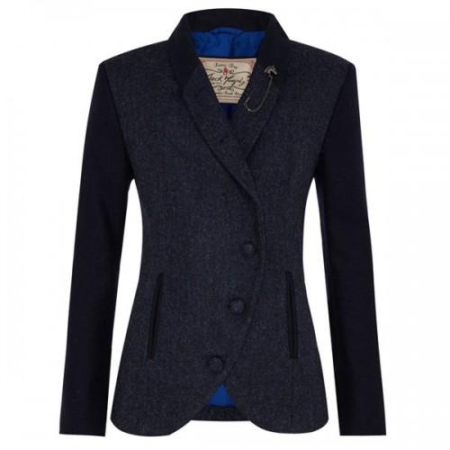 Beth Ladies' Tweed Jacket by Jack Murphy - Navy Herringbone image #1