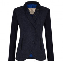 Beth Ladies' Tweed Jacket by Jack Murphy - Navy Herringbone