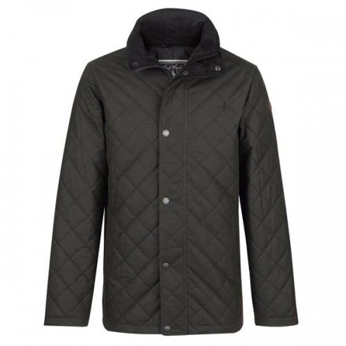 Dara Olive Quilted Wax Jacket By Jack Murphy image #1